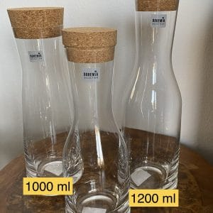 Wasserkaraffe - Edelsteinkaraffe, Glaskaraffe verschiedene Ausführungen 3 SanjaNatur
