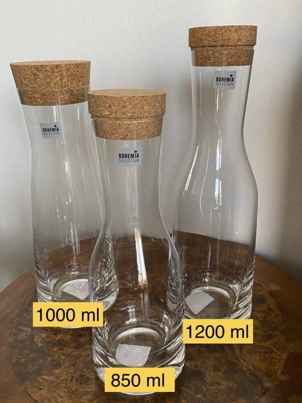 Wasserkaraffe - Edelsteinkaraffe, Glaskaraffe verschiedene Ausführungen 1 SanjaNatur