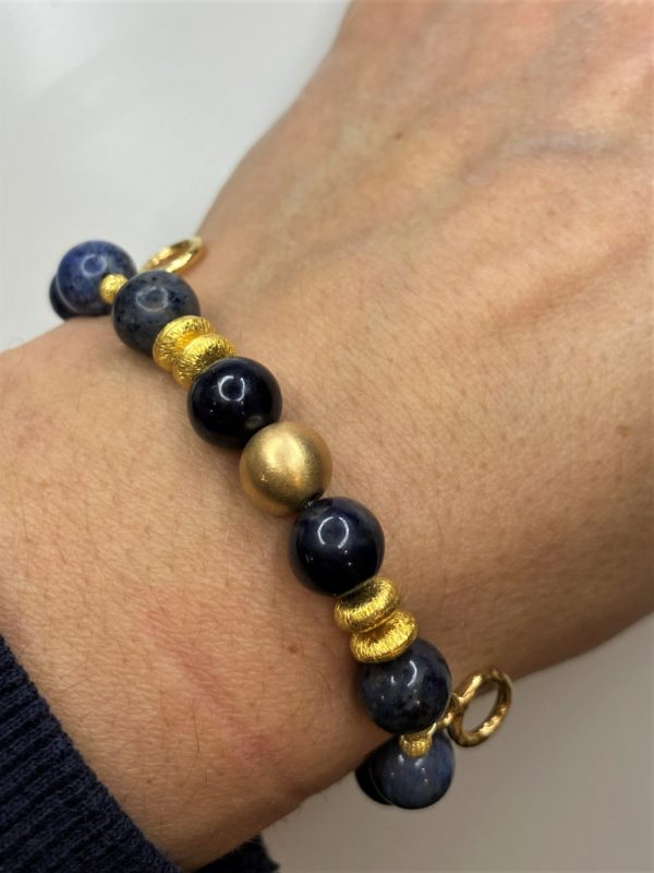 Edelsteinarmband Dumortierit - Gold - Gelassenheit 3 SanjaNatur