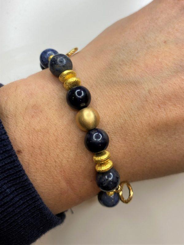 Edelsteinarmband Dumortierit - Gold - Gelassenheit 2 SanjaNatur