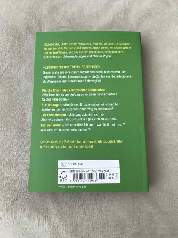 Lebenschance Tiroler Zahlenrad - Sich und andere besser verstehen - (Deutsch) Taschenbuch 2 SanjaNatur