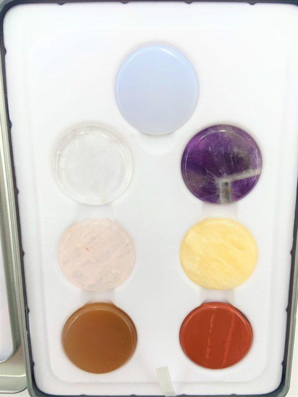 Chakra-Set mit 7 Steinen, je 3 cm - Ausgleich der Energiezentren 4 SanjaNatur