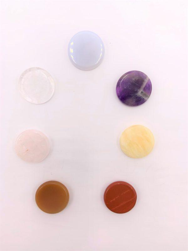 Chakra-Set mit 7 Steinen, je 3 cm - Ausgleich der Energiezentren 5 SanjaNatur
