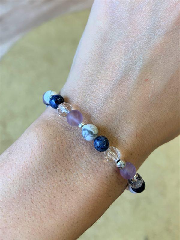 Edelsteinarmband Magnesit, Amethyst, Dumortierit - Entspannung, Harmonie, positive Energie 3 SanjaNatur