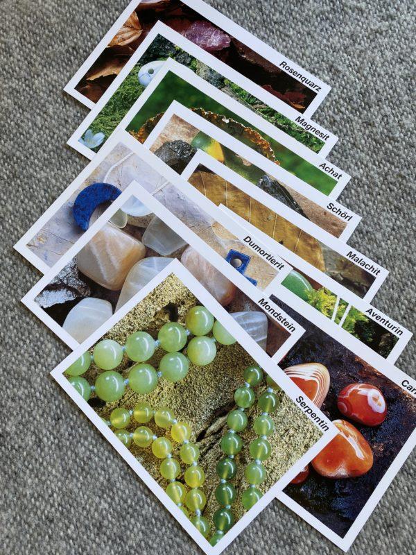 Heilsteine kennen lernen - 10er Karten Set 2 SanjaNatur