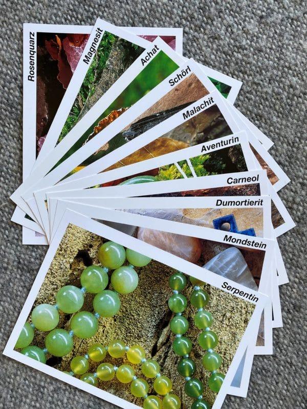 Heilsteine kennen lernen - 10er Karten Set 1 SanjaNatur
