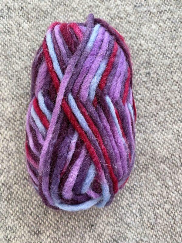 Filzwolle 100% Schurwolle Farbverlauf Purple Rain 1 SanjaNatur