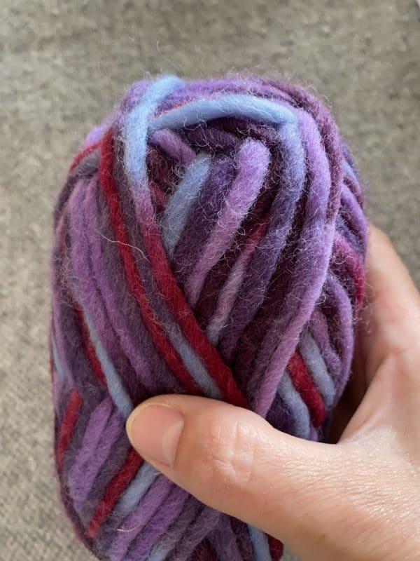 Filzwolle 100% Schurwolle Farbverlauf Purple Rain 2 SanjaNatur