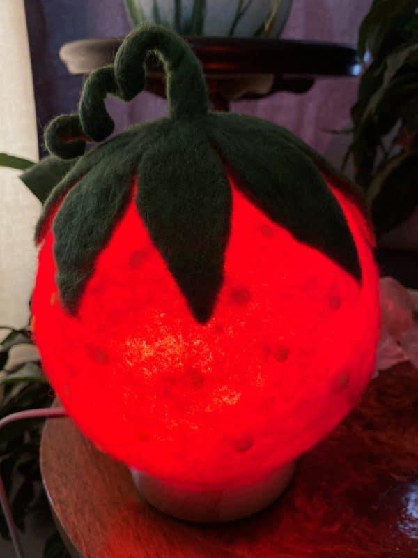 Filzlampe Ø17cm 058 - Erdbeeri 6 SanjaNatur