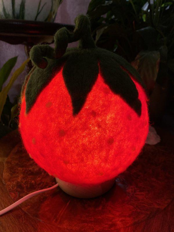 Filzlampe Ø17cm 058 - Erdbeeri 5 SanjaNatur