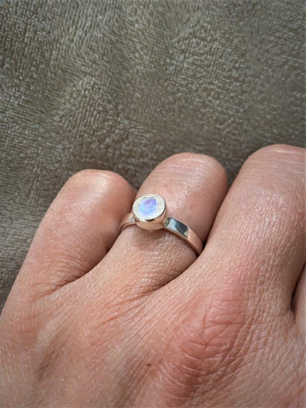 Ring Silber Labradorit (groß) weiß - Intuition & Ruhe 2 SanjaNatur