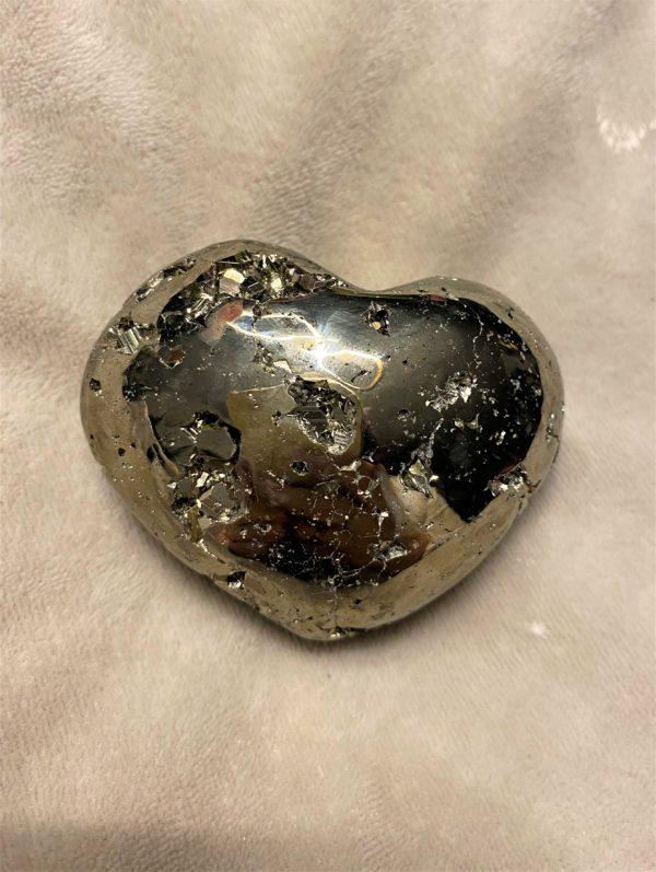 Pyrit Herz groß - Mitgefühl und Verständnis 2 SanjaNatur
