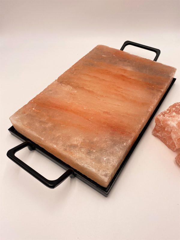 Salzkristall-Kochplatte mit Rahmen, 30 x 20 cm - purer Genuss aus der Natur! 1 SanjaNatur