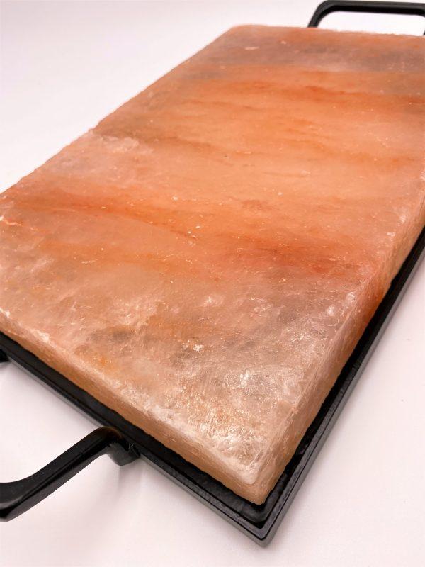 Salzkristall-Kochplatte mit Rahmen, 30 x 20 cm - purer Genuss aus der Natur! 5 SanjaNatur