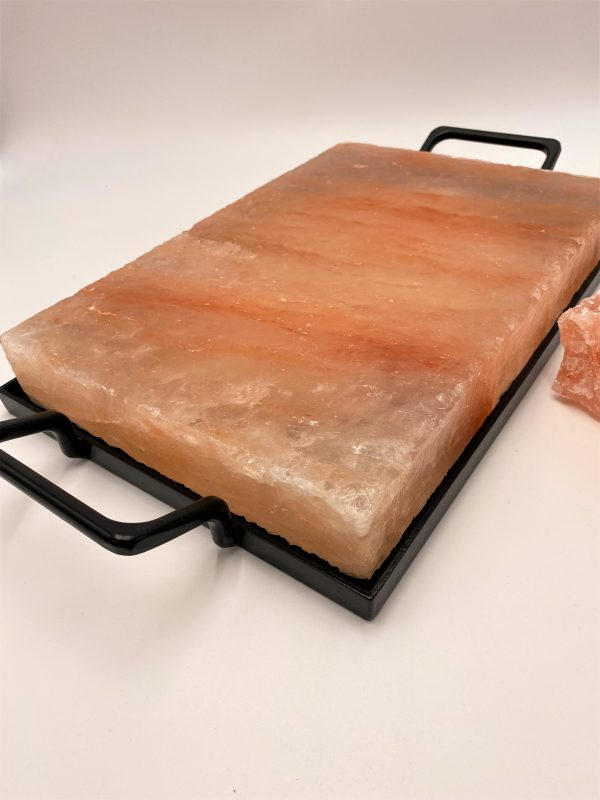 Salzkristall-Kochplatte mit Rahmen, 30 x 20 cm - purer Genuss aus der Natur! 2 SanjaNatur