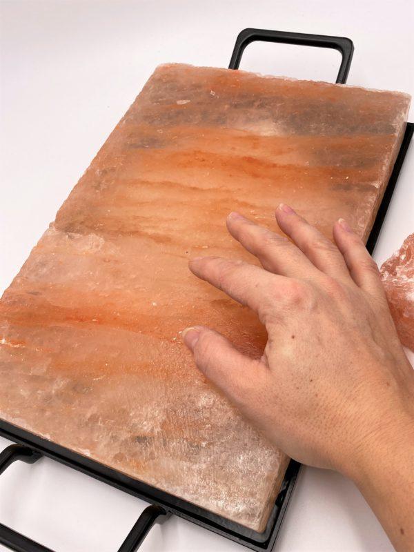 Salzkristall-Kochplatte mit Rahmen, 30 x 20 cm - purer Genuss aus der Natur! 4 SanjaNatur
