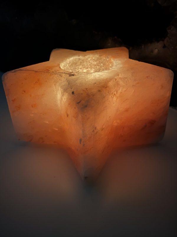 Salzkristall-Teelicht -Stern- Mineralisierung und Ausgleich 5 SanjaNatur