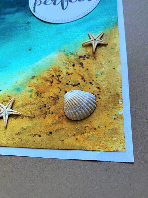 Wunschkarte groß 21 cm- Strand - perfekter Moment 2 SanjaNatur