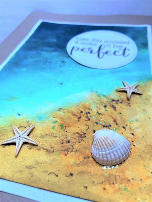 Wunschkarte groß 21 cm- Strand - perfekter Moment 3 SanjaNatur