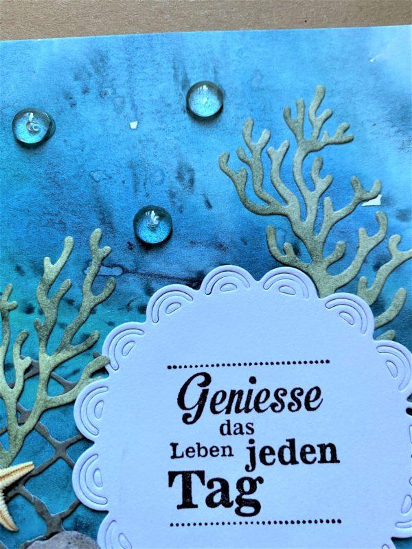 Wunschkarte 17,5 cm- unter Wasser - Genuss 2 SanjaNatur