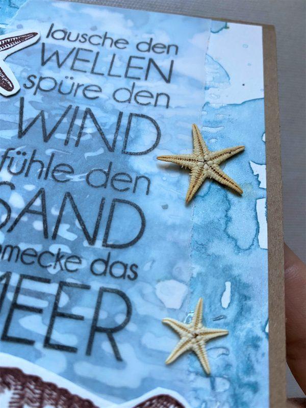 Wunschkarte 15 cm - Muscheln uns Meer 3 SanjaNatur