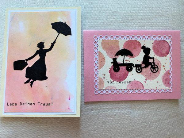 Set: Wunschkarten 16,5 cm und 15 cm - Pastell - Herz und Traum 1 SanjaNatur