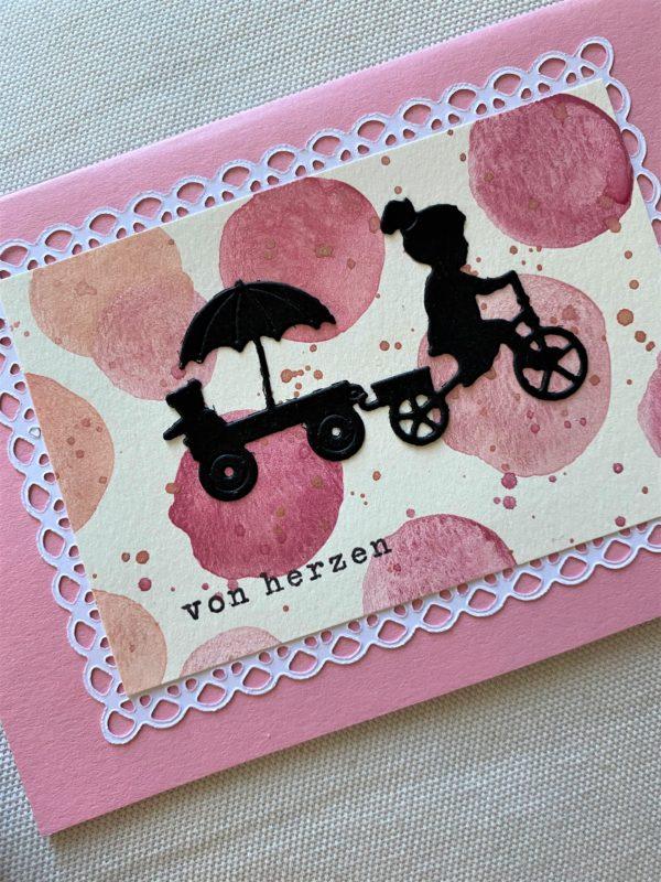 Set: Wunschkarten 16,5 cm und 15 cm - Pastell - Herz und Traum 2 SanjaNatur