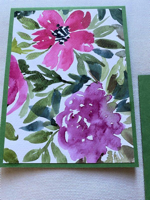 Set: Geschenkkarten 15 cm- Blumen und Kleeblatt 2 SanjaNatur