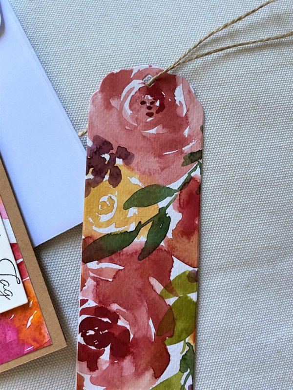 Set: Wunschkarte 15 cm mit Lesezeichen - Blumen - Wunder 3 SanjaNatur