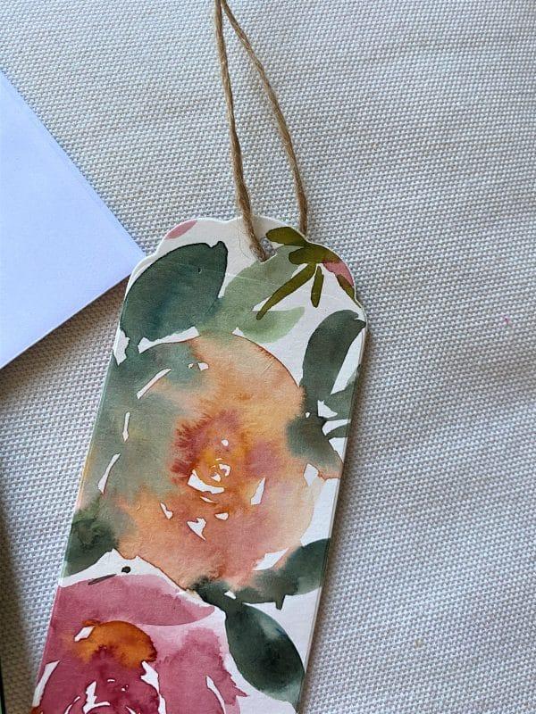 Set: Blumenkarte 15 cm mit Lesezeichen - Blüten 3 SanjaNatur