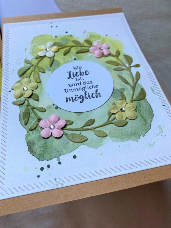 Set: Dankeskarten 15 cm- Blumen - Sommergarten 3 SanjaNatur