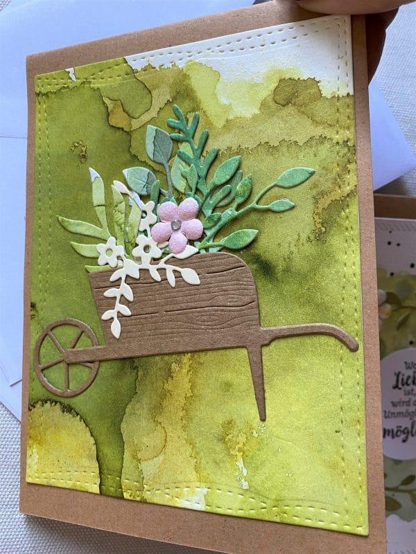 Set: Dankeskarten 15 cm- Blumen - Sommergarten 2 SanjaNatur