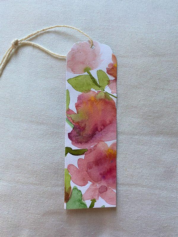 Lesezeichen groß 16,5 cm- Blumen - Frühlingsdesign 1 SanjaNatur