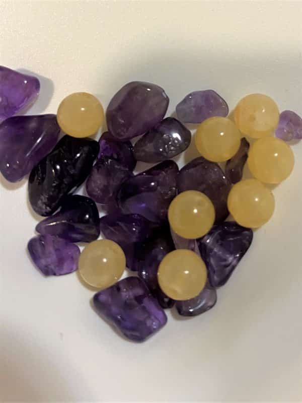 Heilstein - Lavendel Kissen - Ruhe und Zufriedenheit 2 SanjaNatur