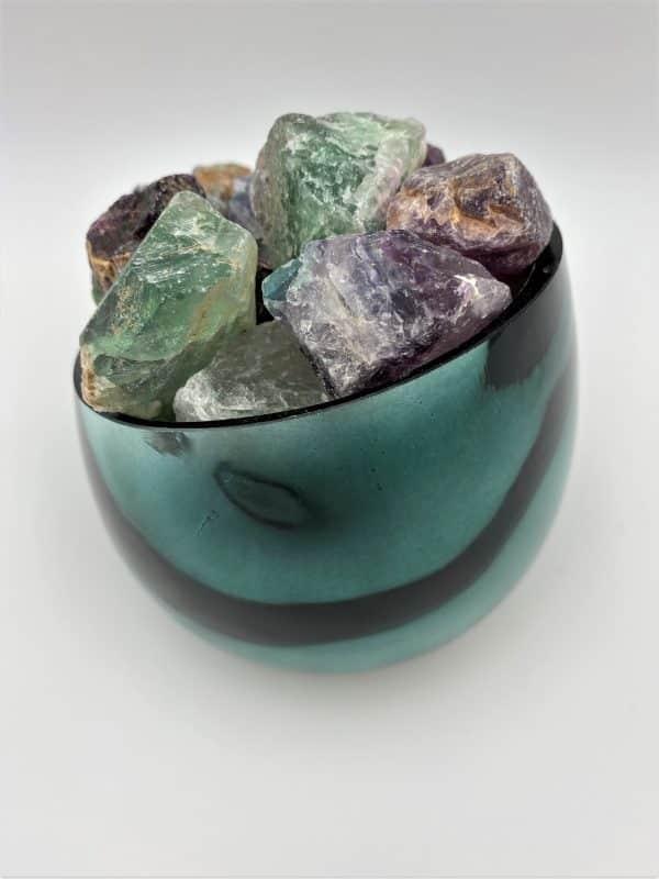 Heilstein-Schale 001 - Regenbogenfluorit - Konzentration und Inspiration 5 SanjaNatur