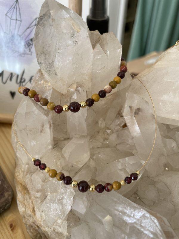 Set: Mookait + Granat Halskette mit passendem Armband - Ausgleich, Ruhe, Einklang 3 SanjaNatur