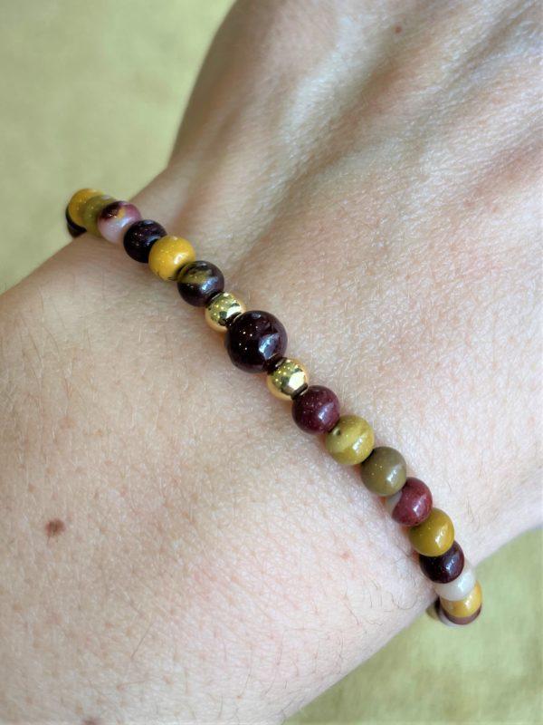 Set: Mookait + Granat Halskette mit passendem Armband - Ausgleich, Ruhe, Einklang 2 SanjaNatur