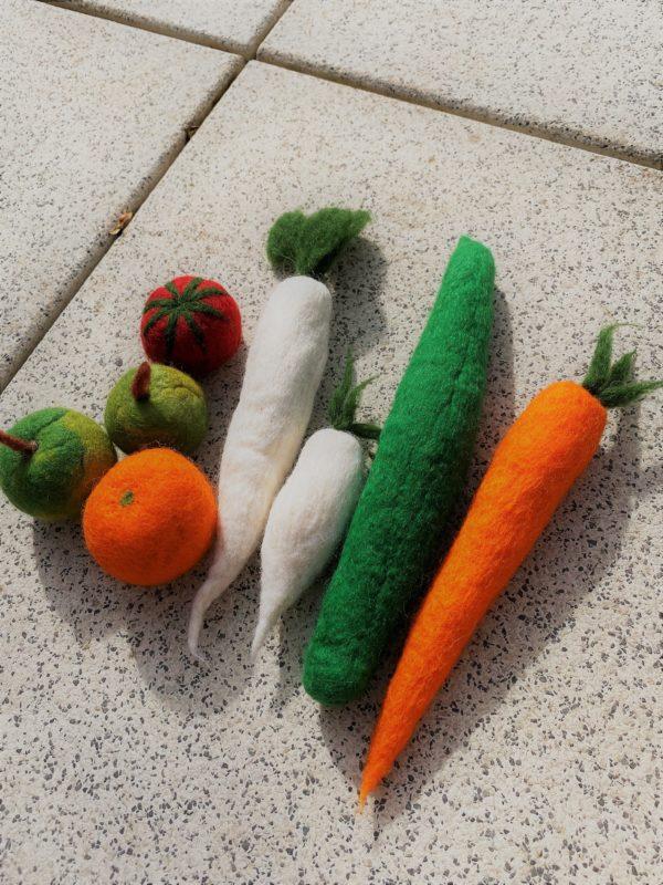 Obst- und Gemüse gefilzt 001 mit Echtholzkiste 3 SanjaNatur