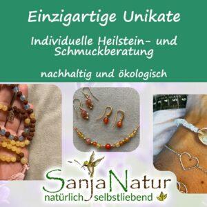 Edelsteine Schmuck, Heilstein und Filzlampen Shop + CU Zahlenring + Selbstliebe Portal 16 SanjaNatur®