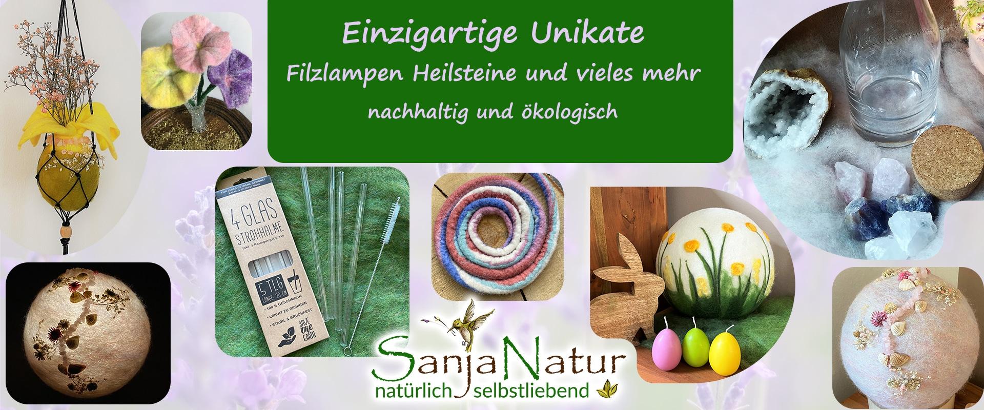 Selbstliebe Portal + Heilstein und Filzlampen Shopping + CU Zahlenring 1 SanjaNatur