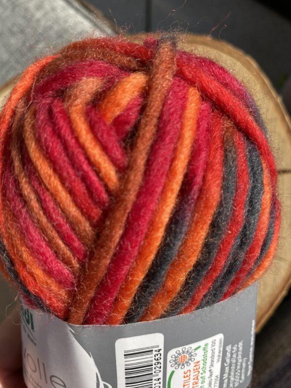 Filzwolle Color 100% Schurwolle Farbverlauf orange-braun-rot 2 SanjaNatur