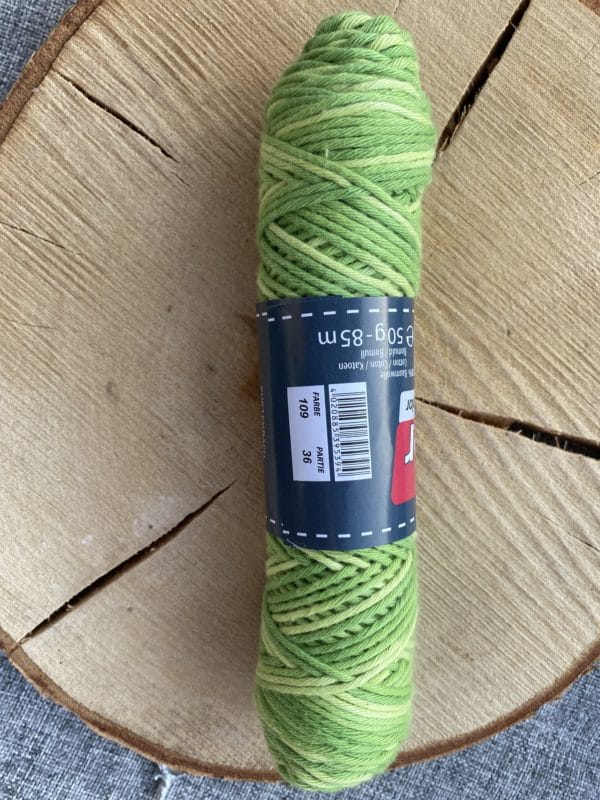 Baumwolle 100% Baumwolle Farbverlauf grün 2 SanjaNatur