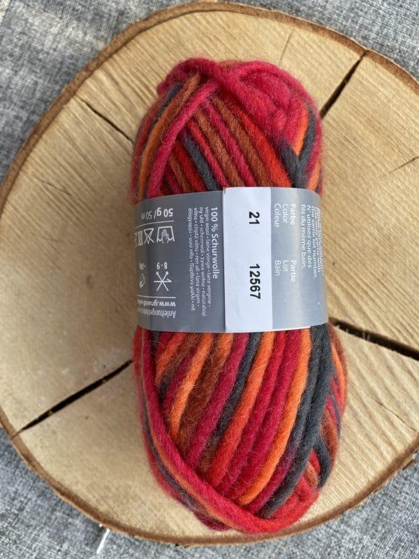 Filzwolle Color 100% Schurwolle Farbverlauf orange-braun-rot 1 SanjaNatur