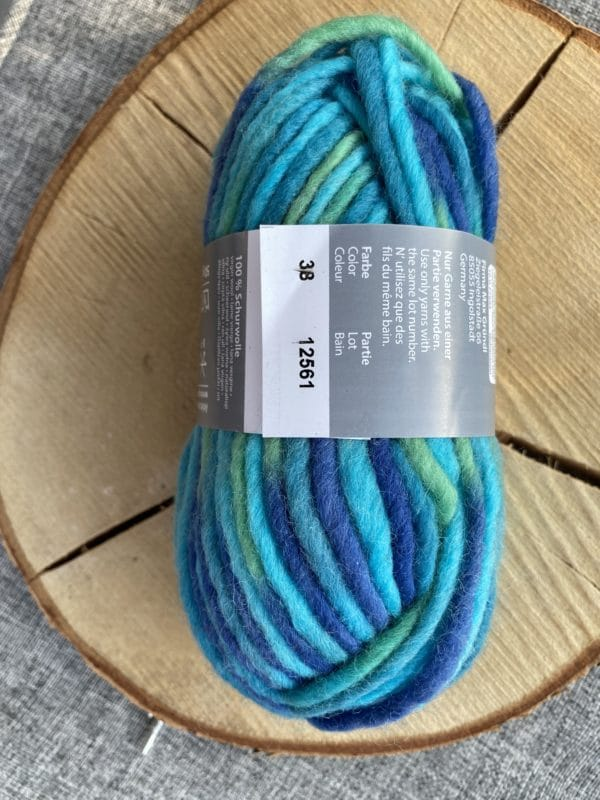 Filzwolle Color 100% Schurwolle Farbverlauf unter dem Meer 1 SanjaNatur