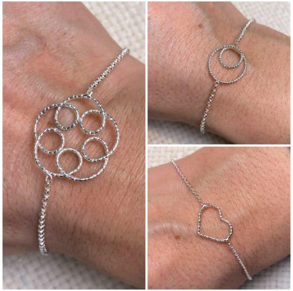 "Silberarmband ""Glücksband"" - Blüte, Herz oder Kreise 1 SanjaNatur"