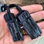 Anhänger Turmalin mit Baumwollband - Schutz 6 SanjaNatur